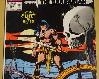 1989 Marvel Comics - Conan the Barbarian - Volume 1, #223 in Near Mint Condition - October 1989