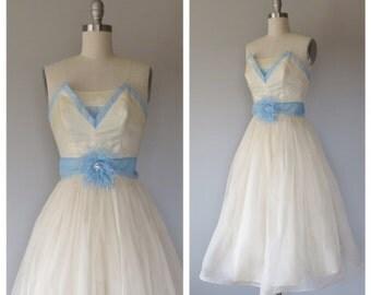 50s party dress size XS / vintage party dress
