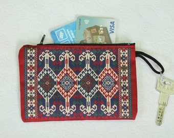 Kilim purse, Kilim rug purse, Turkish Rug bag, Kilim bag, Ethnic purse, Kilim Coin Purse, Kilim rug, carpet bag, boho clutch