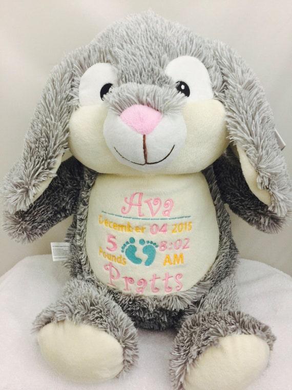 Personalized Munchkin Pie Rabbit Monogramed Bunny birth
