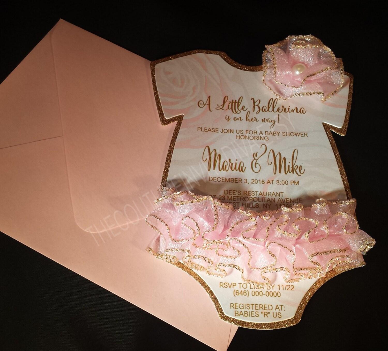 tutu baby shower invitation tutu 1st by thecoutureinvitediva