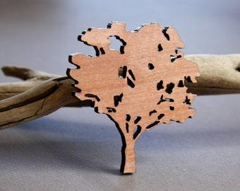 Wooden Tree Brooch, Gum Tree Brooch, Made in Australia