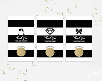 10 Gold Bridal Shower Scratch Off Cards - Bridal Shower Game - Bachelorette Party Game