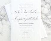 FLAT SAMPLE | Custom Calligraphy |  Wedding Invitation | Simple Invitation | Traditional Calligraphy Invitation | Modern Calligraphy Invite