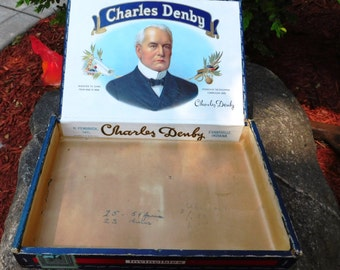Vintage Charles Denby / H Fendrich Invincibles Cigar Box - 1960's - from DustyMillerAntiques