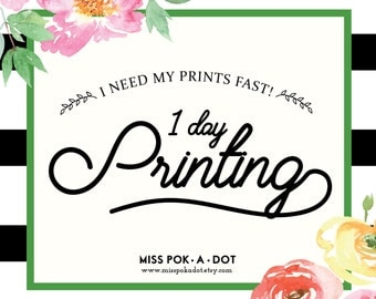 Rush my PRINTS!  ONE day printing turnaround rush print express printing