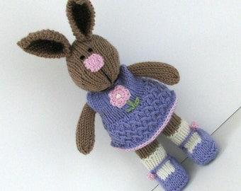 Kids Rabbit, Bunny Doll, Bunny Kids, Bunny Toy, Knit Bunny Rabbit, Knit Toy, Knit Stuff Bunny, Plush Doll, Kids Toy, Child Toy, Cuddly Bunny