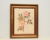 Original Watercolor Painting Roses SIGNED 1950