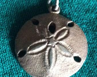 Sale - Vintage Sterling Silver Sand Dollar Pendant