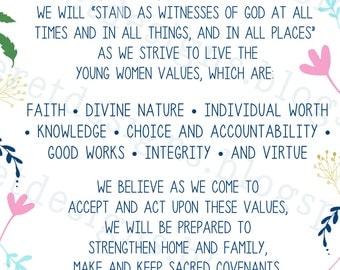 lds young women stand in holy places binder cover | just b ...