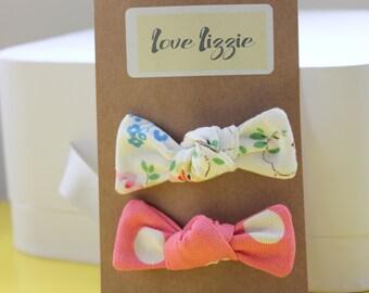 Cath Kidston floral, spot, cotton, fabric, hair bows, clips