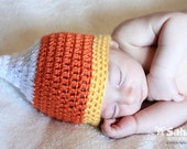 PATTERN Instant Download Candy Corn Hat Newborn to Toddler Sizes baby Crochet Beanie Halloween Photo Prop
