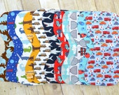 YOU PICK 3 - burp rag - burp cloth - baby shower gift - boy - infant - baby - drool bib - drool cloth - contoured burp rag - newborn - gift