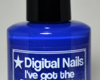I've got the Police Box Blues: TARDIS blue creme  by Digital Nails