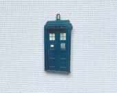 Dr Who TARDIS Police Box Wood Needle Minder