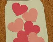 Mason Jar Scrapbook Embellishment - Canning Season - Die Cut Paper Piecing - Handmade - Scrapbook Cardmaking  Embellishment