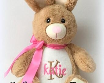 Jumbo Personalized Brown Bunny Stuffed Animal
