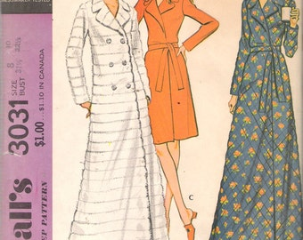 "Vintage 1971 McCall's 3031 Women's Robe Sewing Pattern Size 8 - 10 Bust 31 1/2"" - 32 1/2"" UNCUT"