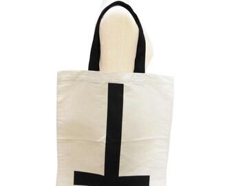 Cross Bag Tote Bag Screen Print Handmade