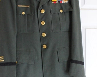 Vintage Army Officer Dress Jacket/Pants with Hat and Pins