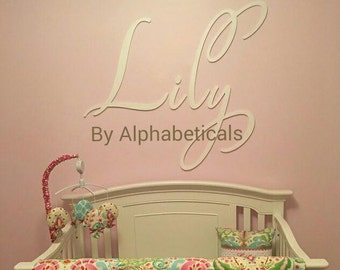Wall Hanging Letters Wall Art Wooden Signs Wooden Letters Wall Letters for Nursery Name Sign Girl Name Letters Large Script L Alphabeticals