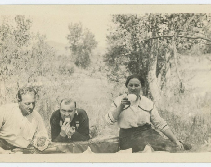 Picnic, c1910s-20s Vintage Snapshot Photo (66477)