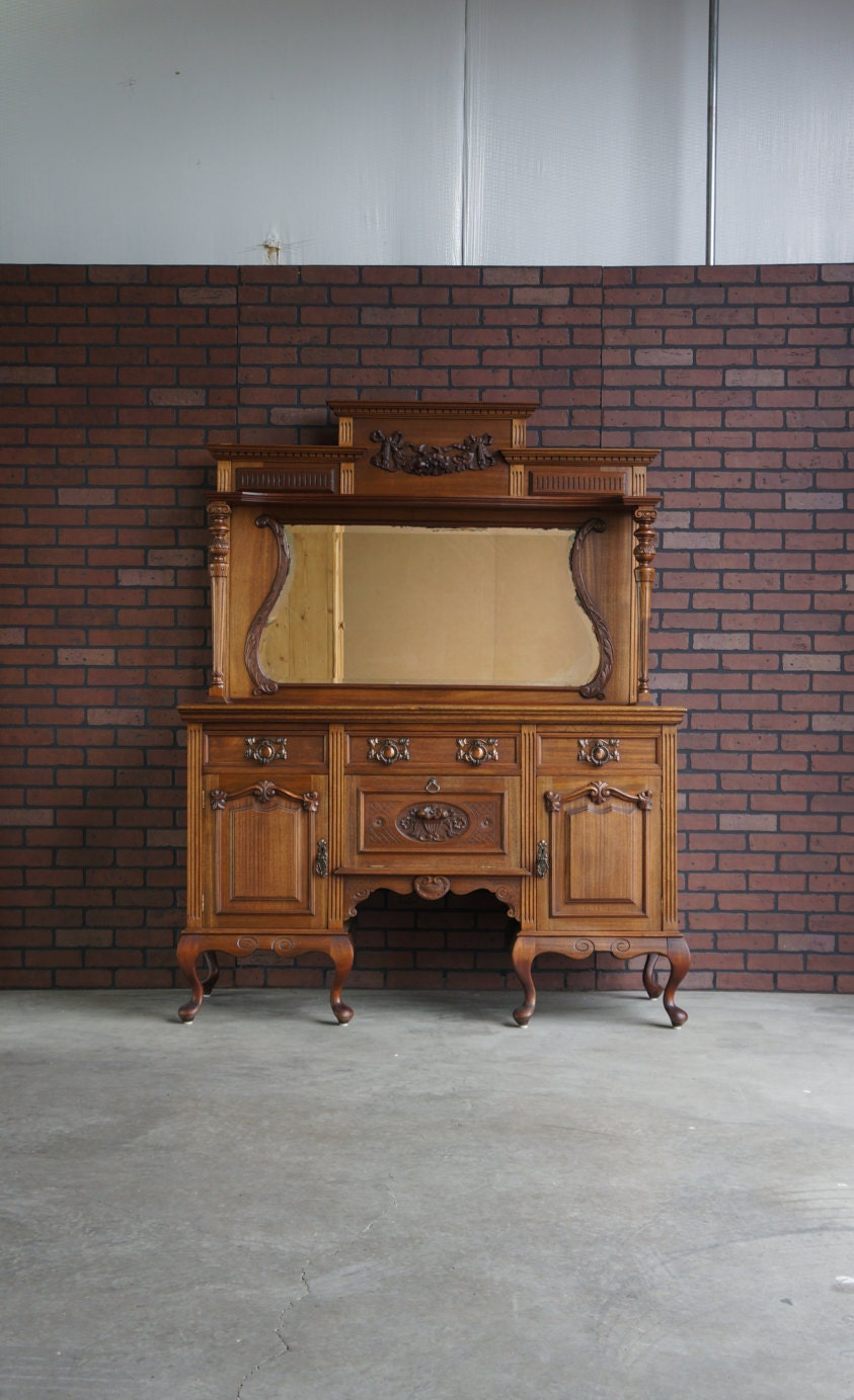 Antique Sideboard Buffet Hutch French Sideboard