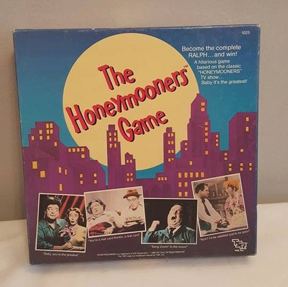 vintage 1986 the honeymooners tv show board game jackie. Black Bedroom Furniture Sets. Home Design Ideas