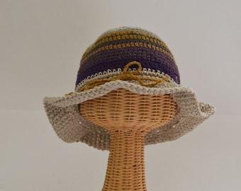 Sun Hat   Hat with short brim   Floppy Brim Hat   Beach Hat   Boating Hat   Garden Hat   Made in USA   Organic cotton   Hemp   OOAK Design