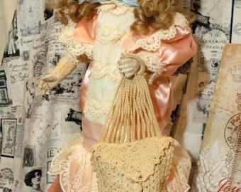 "SOLD ON LAYAWAY for Jen Antique 16"" French Bisque Head Fleischmann & Bloedel S.F.B.J Era Eden Bebe Doll ~Miss Blue Eyes~"