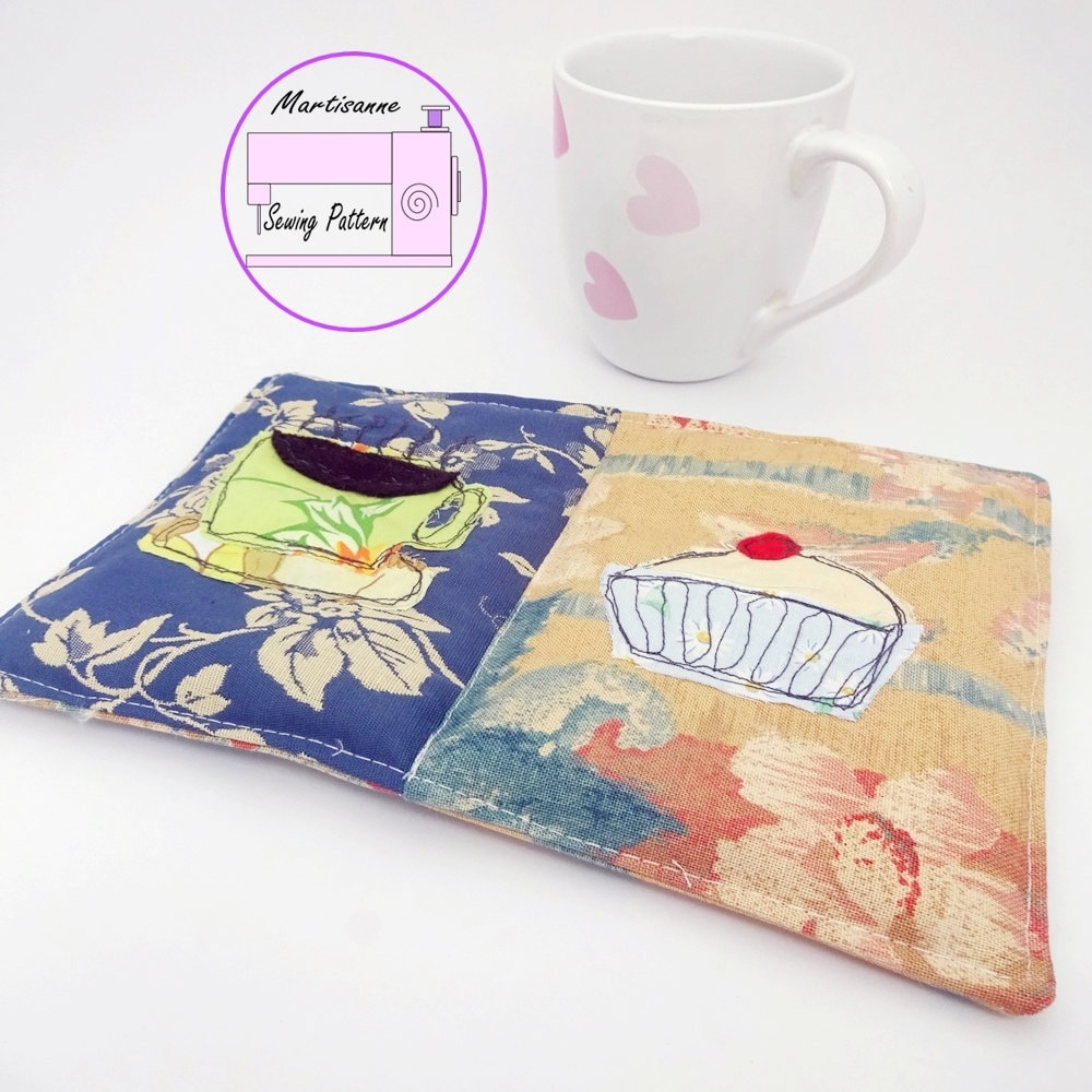 Mug Rug Sewing Pattern Drink Coaster Pdf Teacher Gift Snack