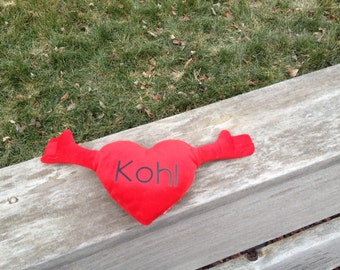 Personalized Stuffed Hugging Heart Plush Toy - Children's Valentine's Day