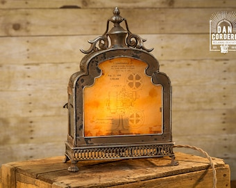 Vintage Projector Patent Lantern Table Lamp