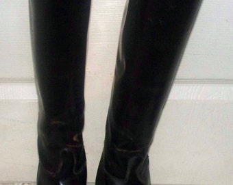 Knee High English Riding Boots - Last Eisers R/B  -  Size 8.5 - Leather - Made in England - Style 85/954