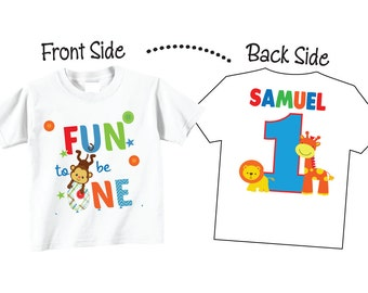 1st Birthday Shirts Fun to be One Shirts and Tshirts for 1st Birthday