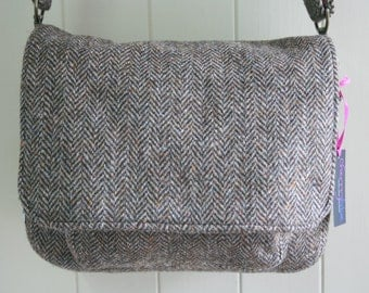 Brown Harris Tweed satchel bag