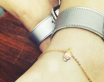 Ice Cream Corn Anklets, Summer Jewelry, Cute Anklets