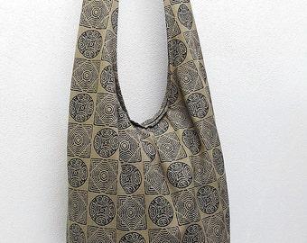 Women bag Handbags Thai Cotton bag Hippie bag Hobo bag Boho bag Shoulder bag Sling bag Messenger bag Tote bag Crossbody bag Purse Khaki