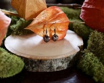 Vintage Sterling Silver Heart Drop / Dangle Earrings
