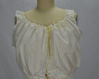 Victorian White Romantic Cotton & Eyelet Corset Cover