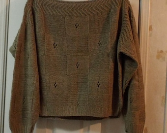 Women's Tricots St. Raphael Crop Top Silk & Linen Pullover Sweater Made in Uruguay
