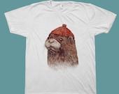 Otter T-shirt, Animal Tees, Animal Tshirt, mens t-shirts, River Otter