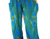 Peacock pants Hippie pants Harem pants/Boho pants one size fits Black