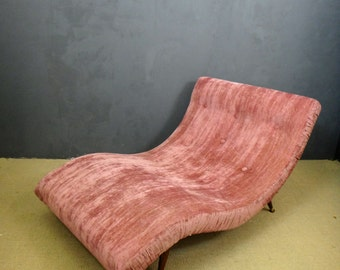 Mid Century Adrian Pearsall Double Wave Chaise