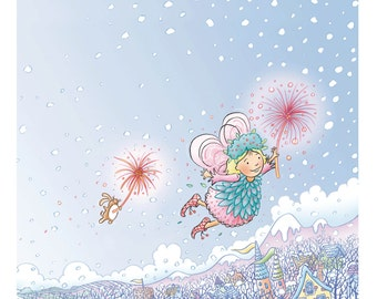 Where Do Fairies Go When It Snows? Flying Fairy Print