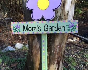 Mom's garden sign garden stake lawn ornament