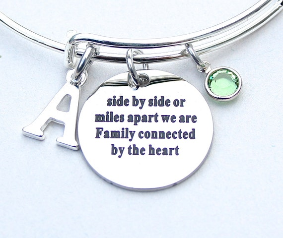 We Are Family Bangle Side By Side Or Miles Apart We Are