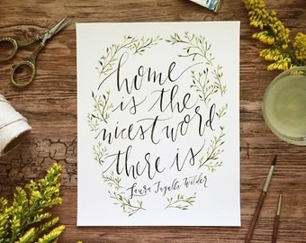 Laura Ingalls Wilder quote, Wall art quotes, Botanical print, Watercolor painting