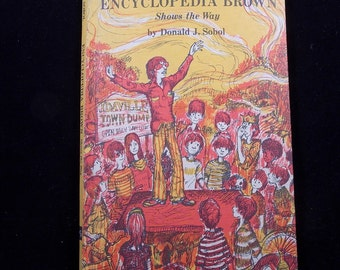 Encyclopedia Brown Shows the Way by Donald J. Sobol (1972 Hardcover)
