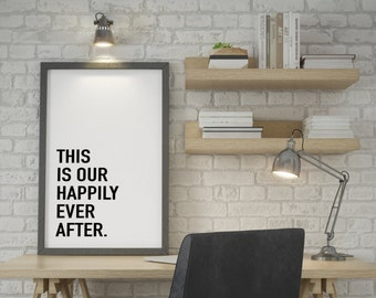 Happy Place Poster Printable Download